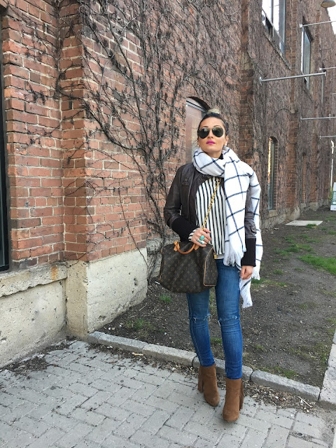 Spring layering, how to layer, mango leather jacket, what to wear in spring, how to wear chunky heels, layering with leather jacket, forever21 ankle boots, toronto fashion blogger, kako nositi koznu jaknu, hot pink lips