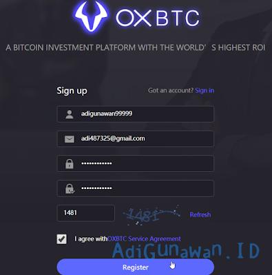 Mining Bitcoin di OXBTC CloudHash