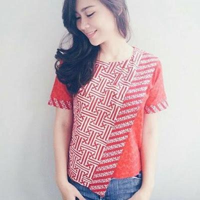 Blouse Batik Cap Pagar Garut
