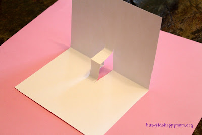 how to make pop up cards - step 2