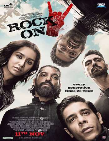 Poster Of Rock On 2 2016 Hindi 720p DTHRip x264 Watch Online Free Download downloadhub.in