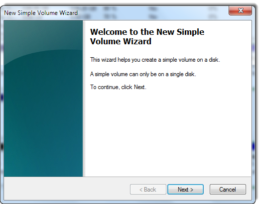 Simple volume wizard