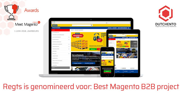 Magento 2 webshop Dutchento B2B Awards 2018 met Jan Arend Koelstra
