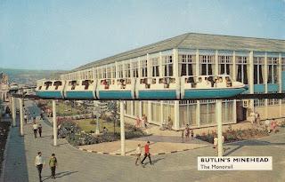 Butlin's Minehead postcard M13. The Monorail. Postally unused