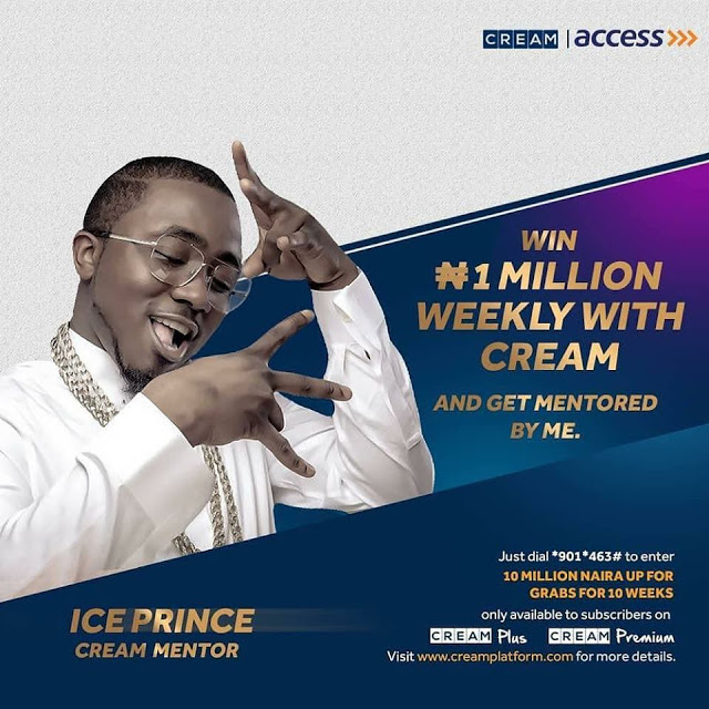 Win 1 Milion Naira Weekly with Cream