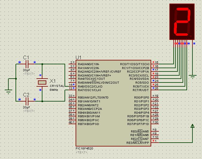 The Circuit For Interfacing Single 7 Segment Display Is Shown Below