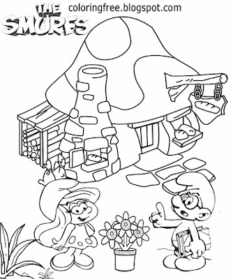 Teenagers clipart cute Smurfette Smurf holding a picnic basket Reporter Smurf coloring book pictures
