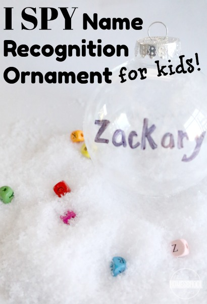 I Spy Name Ornament For Kids School Time Snippets