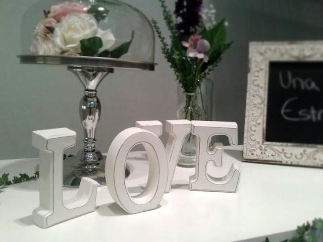 letras love na decoração