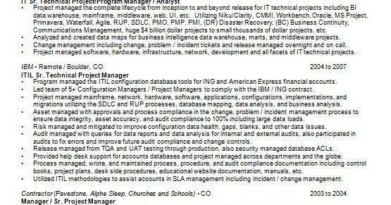 program manager resume latest design in word format free