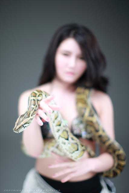 Nude Woman Snake