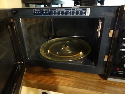 open microwave door
