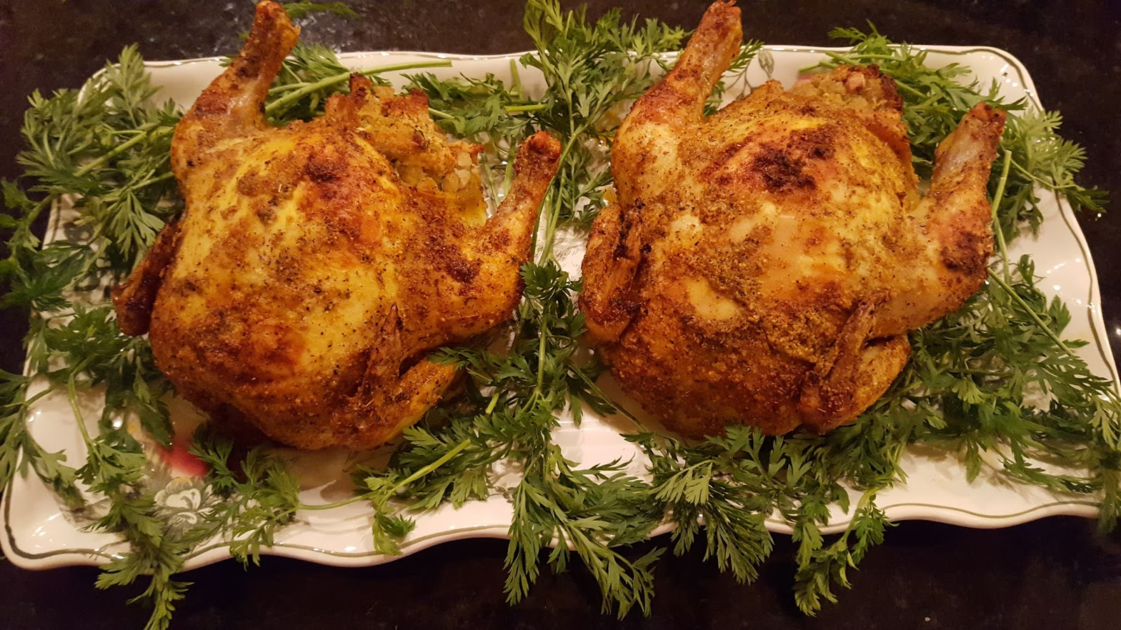 Baked Stuffed Cornish Game Hens Julias Simply Southern