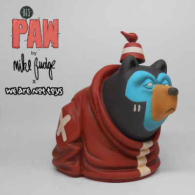 Designer Con 2016 Exclusive Big Paw Brick Red Edition Resin Figure by Mike Fudge x We Are Not Toys
