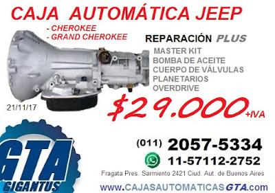 reparacion y venta de caja automatica jeep grand cherokee  42re