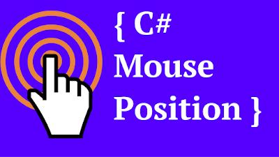 c# cursor position