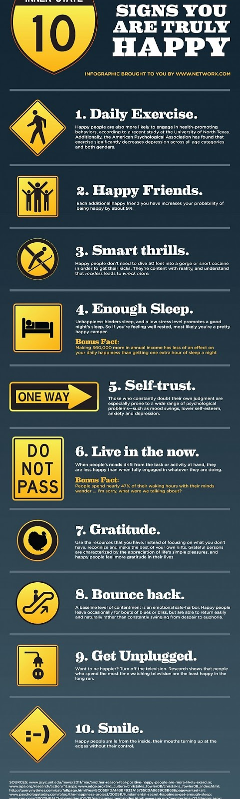 10 signs of happiness