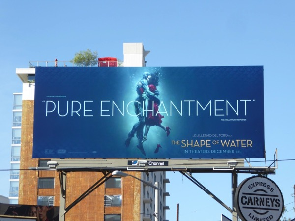 The Shape of Water film billboard