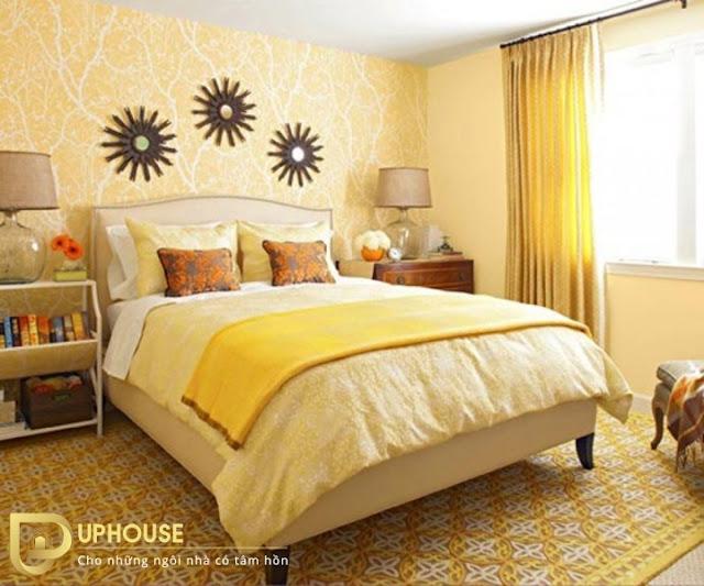 Phòng ngủ màu vàng nhạt 08