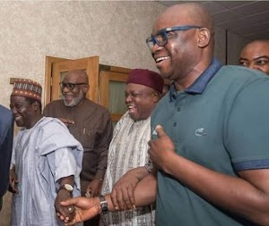 Governor Fayose  Of Ekiti State Wore T-shirt To Aso Rock For NEC Meeting In Buhari's Absence...Funny Man!