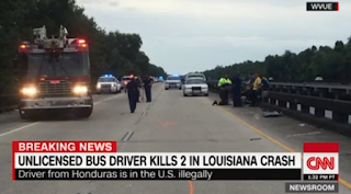 Baton Rouge floods: Workers' Bus Crashes Into Accident Scene, killing 2