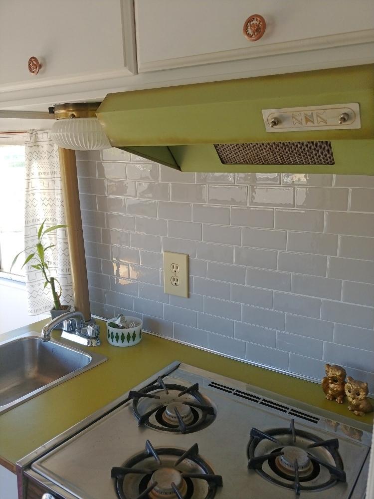 pretty RV kitchen
