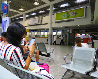 bus departure ticket counter hall at mochit terminal