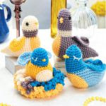 http://www.topcrochetpatterns.com/free-crochet-patterns/crochet-bird-family