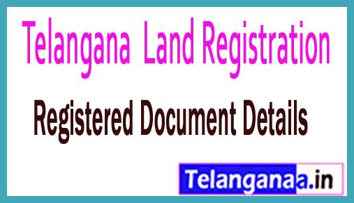 Telangana TS Land Registration Registered Document Details