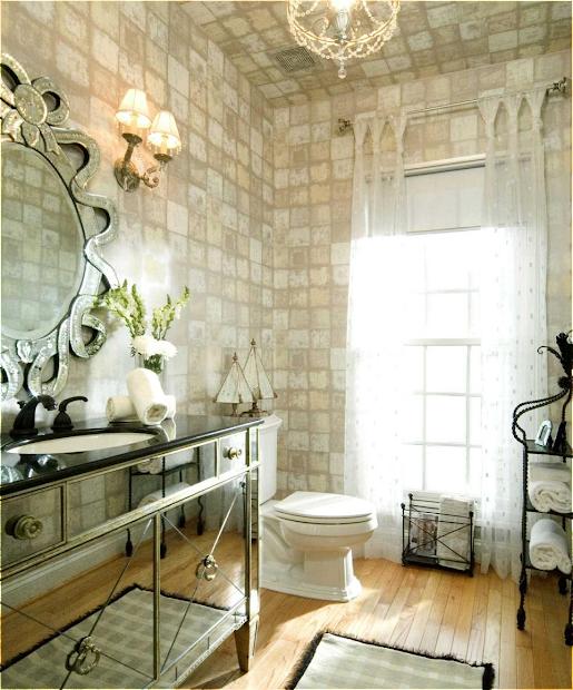 Rustic Glam Powder Room Bathroom Ideas