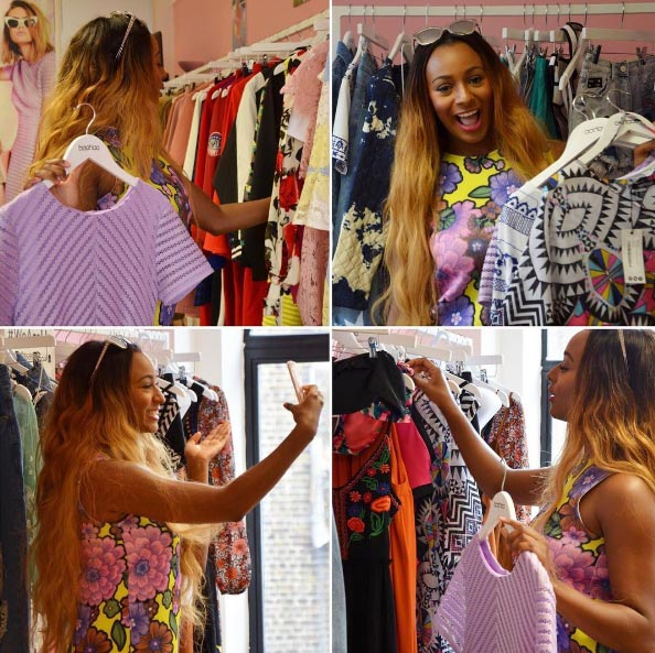 DJ Cuppy goes shopping at boohoo boutique