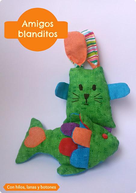Con hilos, lanas y botones: amigos blanditos, muñecos de tela