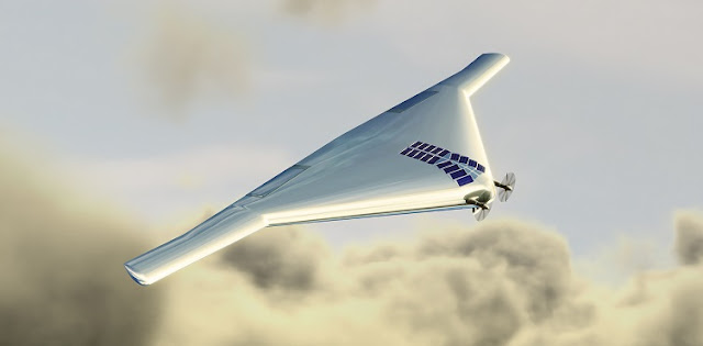 A Venus Atmospheric Maneuverable Platform, or VAMP. The aircraft, which would fly like a plane and float like a blimp, could help explore the atmosphere of Venus, which has temperature and pressure conditions that do not preclude the possibility of microbial life. NORTHROP GRUMMAN
