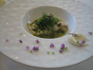 真鯛と翡翠茄子海藻風味のソースコキヤージュ