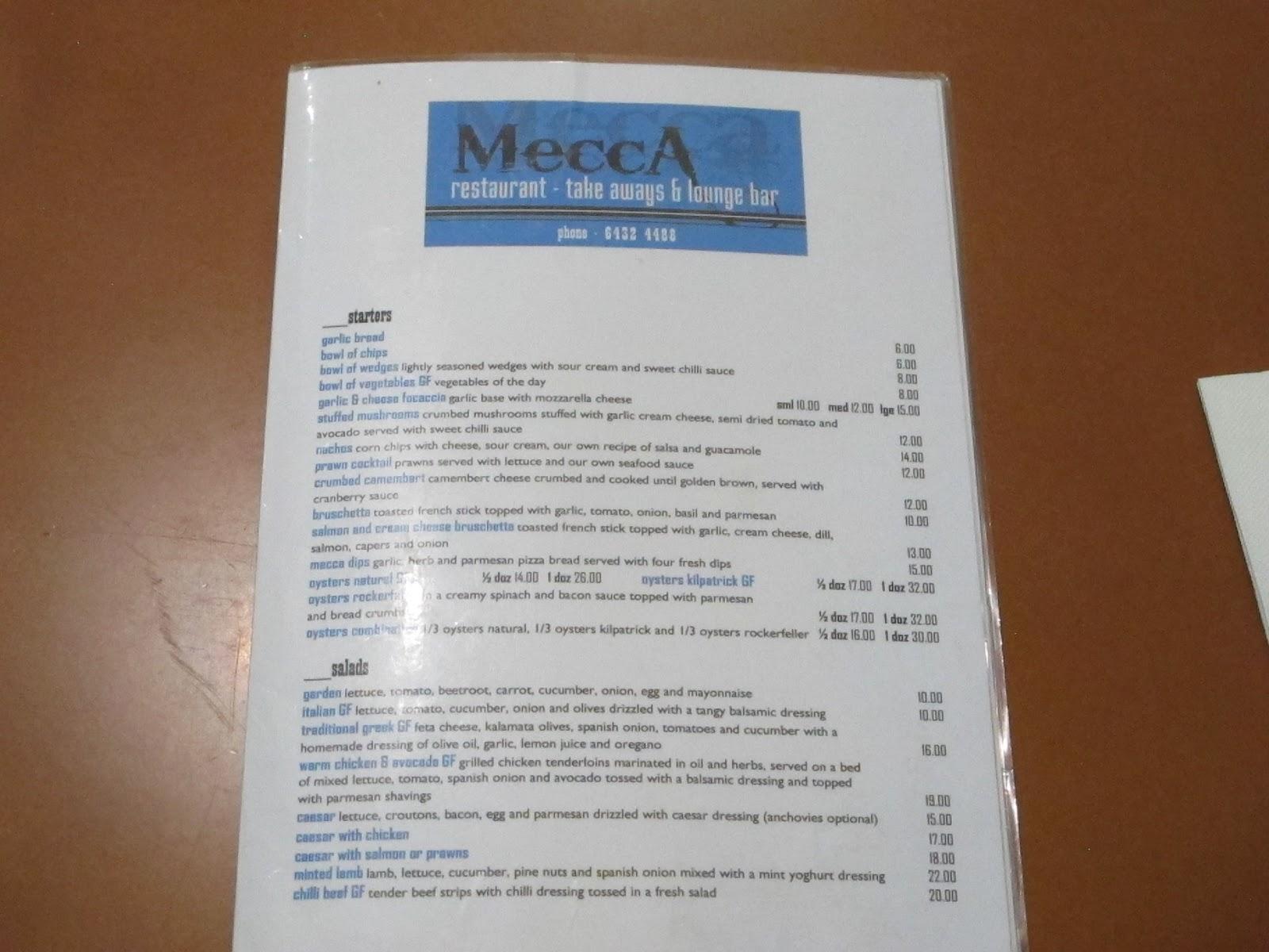 1001 Dinners 1001 Nights: Mecca (Burnie) 06/2016