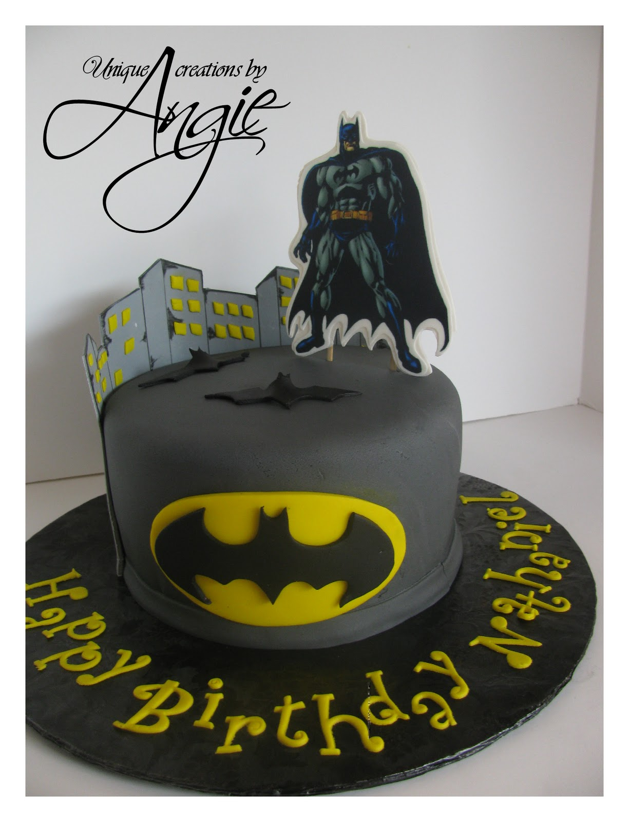Scrappin Memories Batman Cake