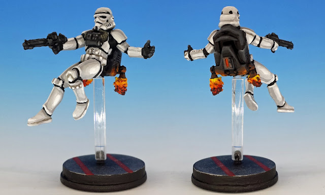 Jet Troopers, Imperial Assault (2016), painted miniature