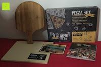 Erfahrungsbericht: Garcon Pizzastein für Backofen und Gasgrill zum Pizza Backen - 3er Set inkl. Pizzaschieber, Kochbuch und Geschenk Box