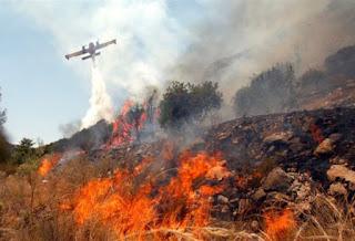 φωτιά στην Κασσάνδρα Χαλκιδικής