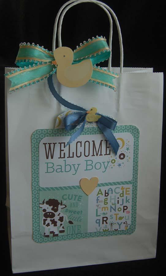 Baby Gift Sack : Lynn s craft baby boy gift bag