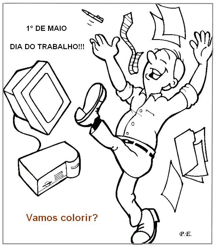 Desenhos Para Pintar Do Dia Do Trabalho 1º De Maio Mundinho Da