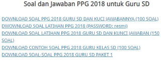 Soal dan Kunci Jawaban PPG SD Tahun 2018-http://www.librarypendidikan.com