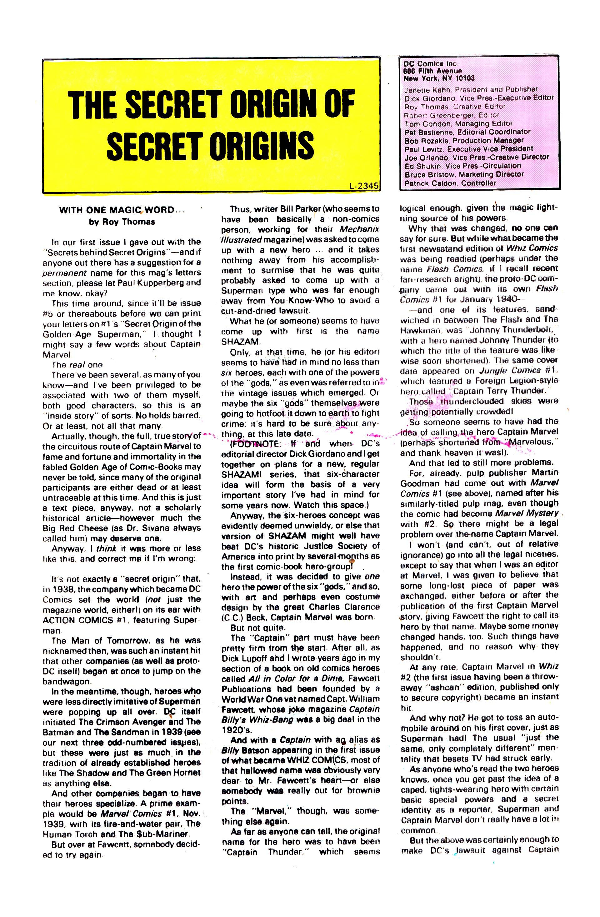Read online Secret Origins (1986) comic -  Issue #3 - 33
