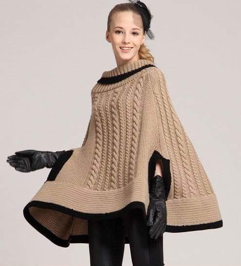 11 modelos de ponchos patrones crochet manualidades y