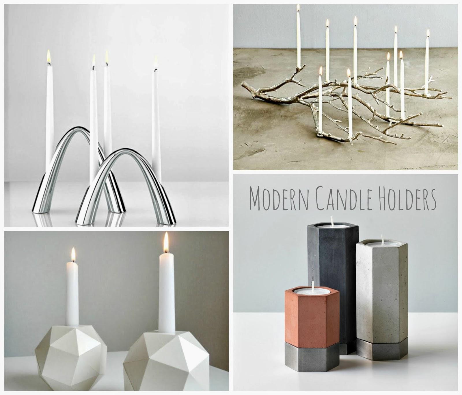 modernistyczne świeczniki