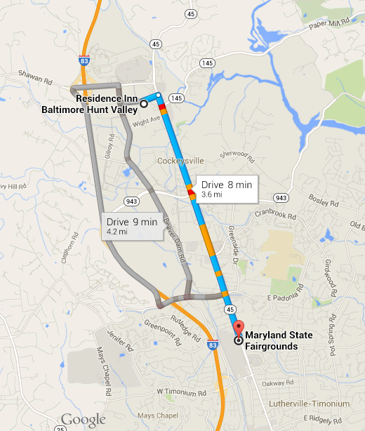 Residence Inn Baltimore Hunt Valley is 3.6 miles/8 minutes from the Maryland State Fai