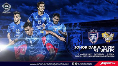 Live Streaming JDT FC Vs UITM FC Piala FA 2017 11 Mac 2017