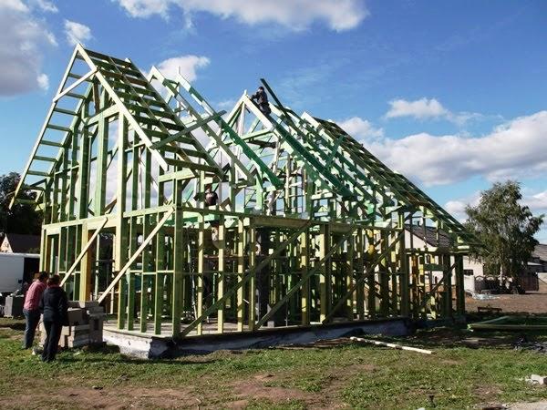 szkielet domu drewnianego kanadyjskiego prefabrykowany domtaniej