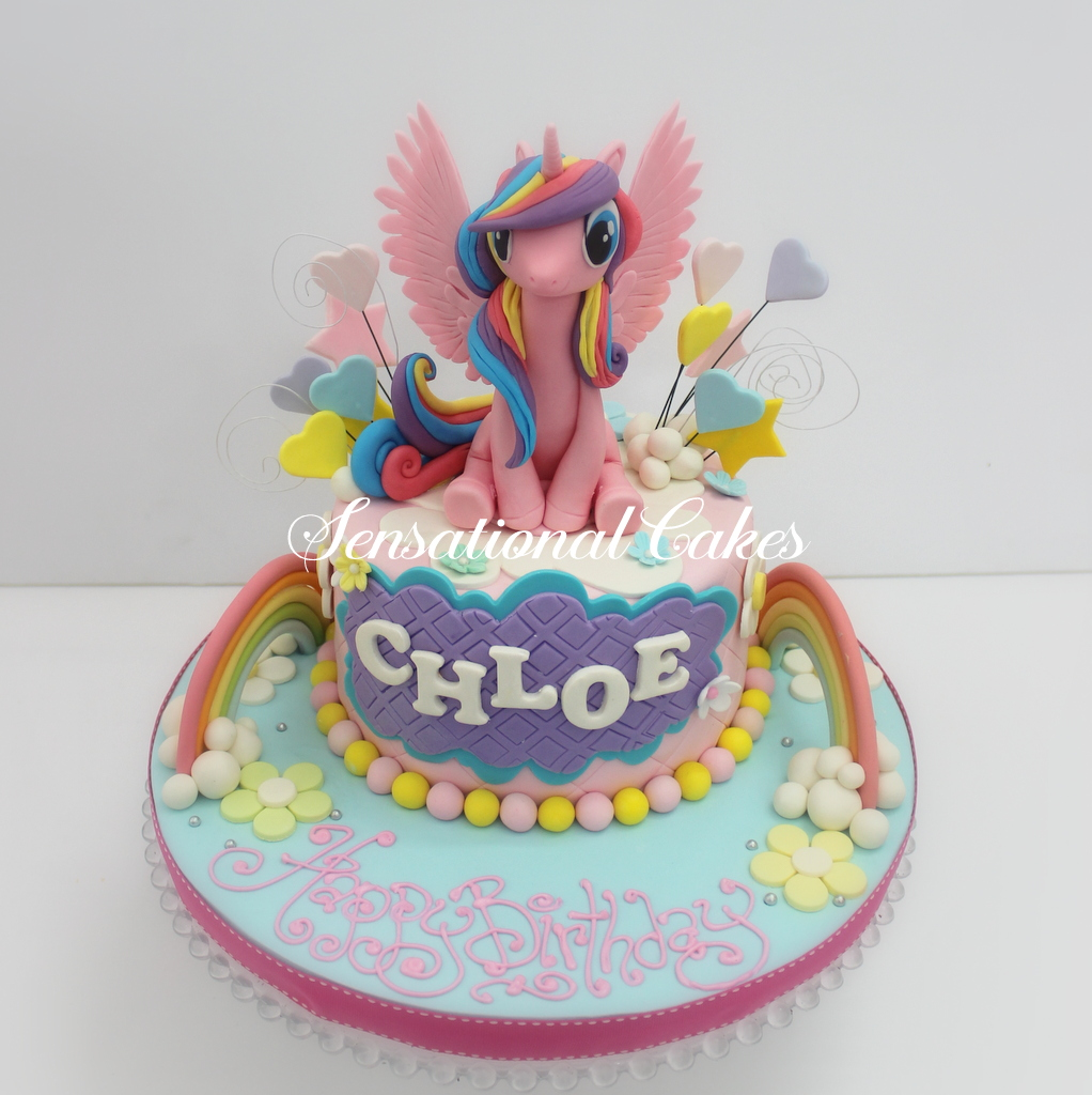 The Sensational Cakes My little pony unicorn rainbow theme cake