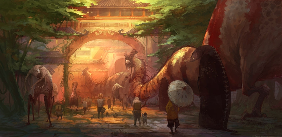04-Back-to-the-City-ZERG118-Dreams-Made-of-Fantasy-Worlds-and-Creature-Illustrations-www-designstack-co